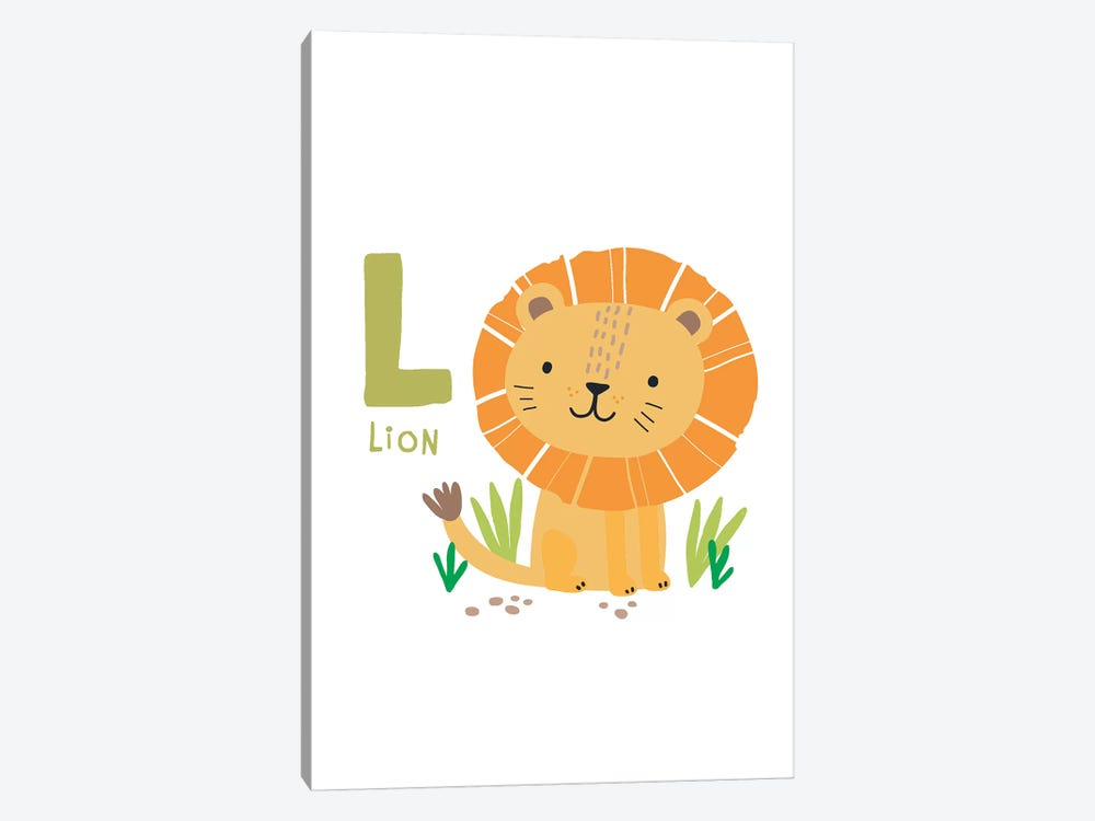 Animal Alphabet - L by Pixy Paper 1-piece Canvas Wall Art