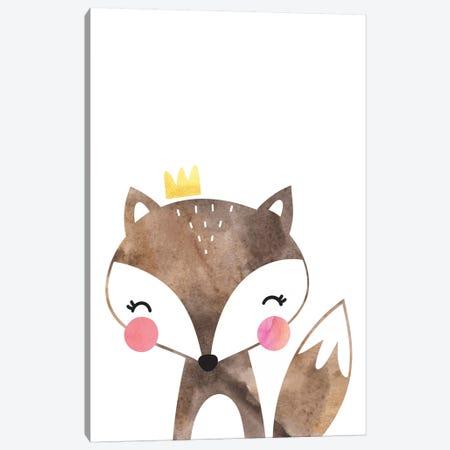 Scandi Brown Fox Watercolour Canvas Print #PXY436} by Pixy Paper Canvas Artwork