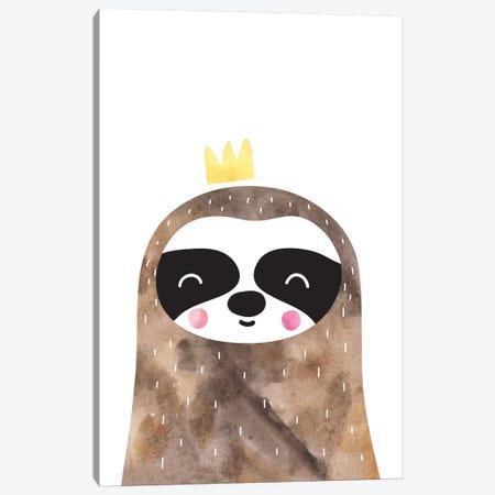 Scandi Brown Sloth Watercolour Canvas Print #PXY438} by Pixy Paper Canvas Art Print