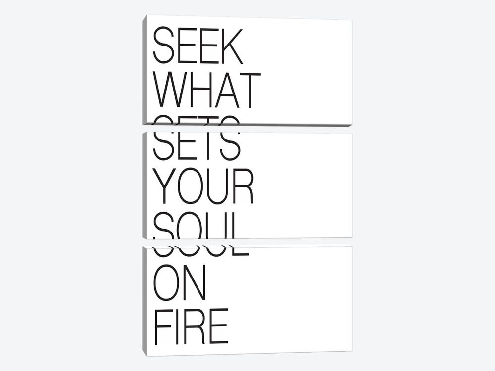 Seek What Sets Your Soul On Fire by Pixy Paper 3-piece Art Print