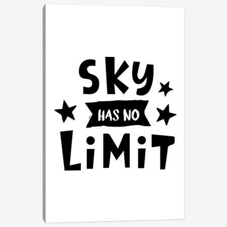 Sky Has No Limit Black Canvas Print #PXY447} by Pixy Paper Canvas Print