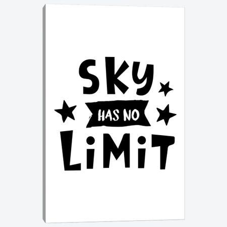 Sky Has No Limit Black Canvas Print #PXY447} by Pixy Paper Canvas Print