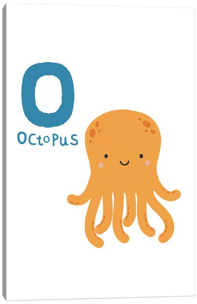 Animal Alphabet - O Canvas Art Print