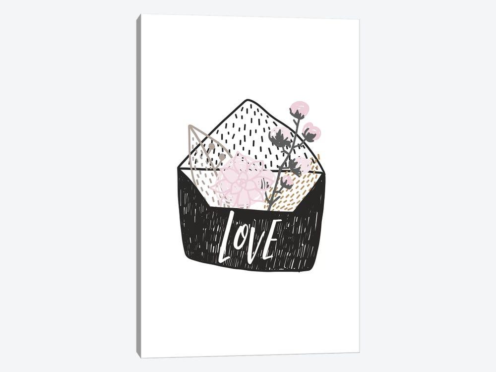 Super Unicorn Designs - Love Letter by Pixy Paper 1-piece Canvas Art Print