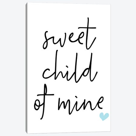 Sweet Child Of Mine Blue Canvas Print #PXY470} by Pixy Paper Canvas Art Print