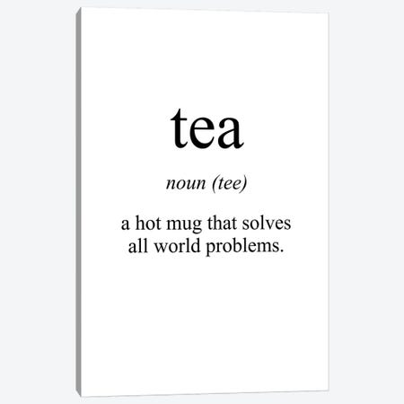 Tea Meaning Canvas Print #PXY474} by Pixy Paper Canvas Wall Art