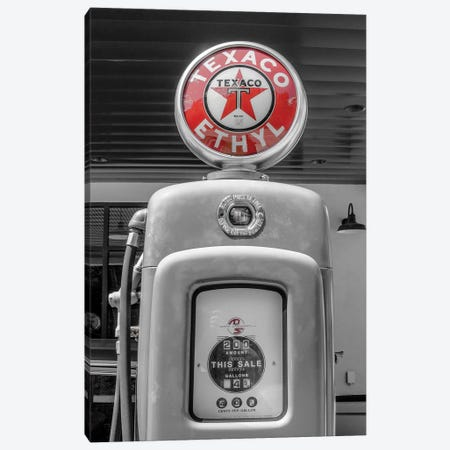 Texaco Fuel Canvas Print #PXY475} by Pixy Paper Canvas Artwork