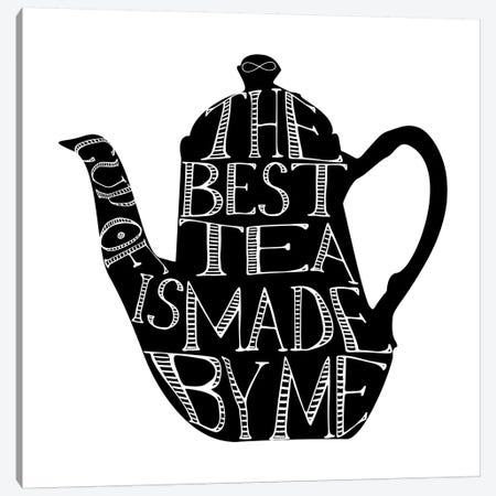The Best Cup Of Tea Teapot Landscape Canvas Print #PXY476} by Pixy Paper Canvas Artwork