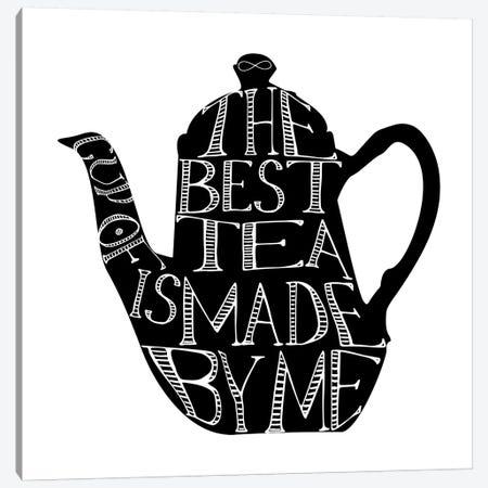 The Best Cup Of Tea Teapot Landscape Canvas Print #PXY476} by Pixy Paper Canvas Artwork