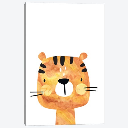 Tiger Watercolour Canvas Print #PXY488} by Pixy Paper Canvas Wall Art