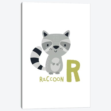 Animal Alphabet - R Canvas Print #PXY48} by Pixy Paper Canvas Artwork