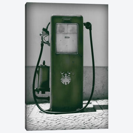 Vintage Dark Green Gas Pump Canvas Print #PXY499} by Pixy Paper Art Print