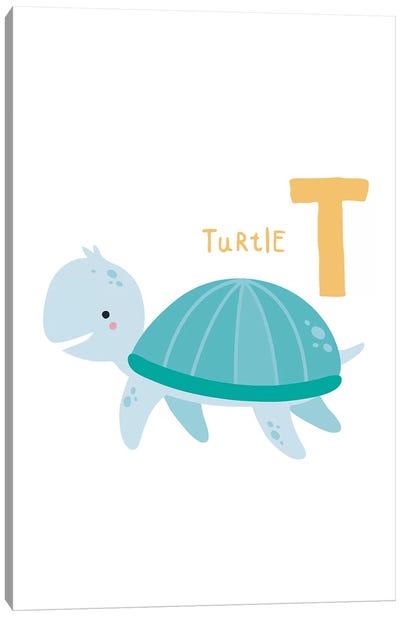 Animal Alphabet - T Canvas Art Print