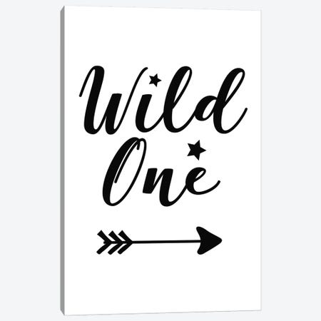 Wild One Black Novelty Canvas Print #PXY526} by Pixy Paper Canvas Wall Art