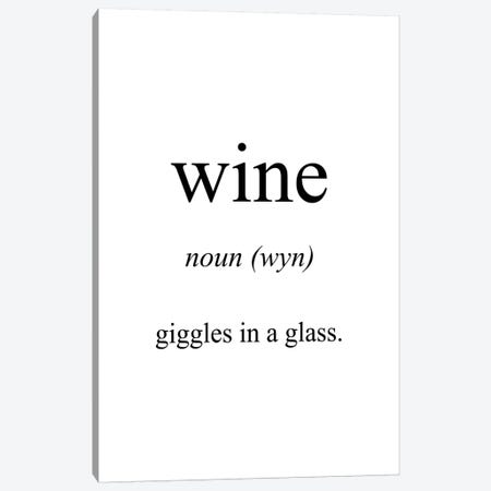 Wine Meaning Canvas Print #PXY527} by Pixy Paper Canvas Wall Art
