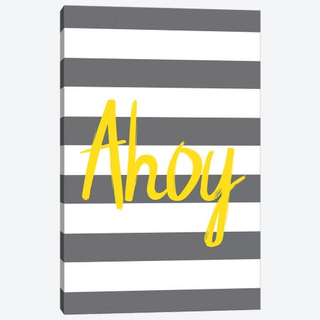 Yellow Ahoy Nordic Design Canvas Print #PXY533} by Pixy Paper Canvas Wall Art