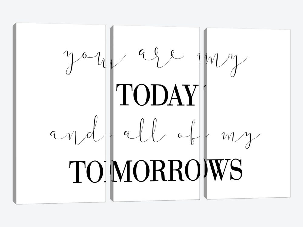 You Are My Today by Pixy Paper 3-piece Canvas Art