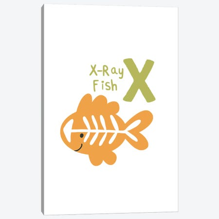 Animal Alphabet - X Canvas Print #PXY54} by Pixy Paper Canvas Wall Art