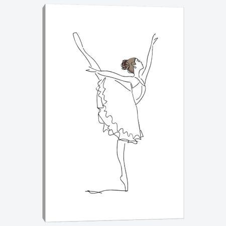 Ballet Line Art Canvas Print #PXY58} by Pixy Paper Canvas Art Print
