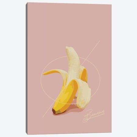 Banana Summer Canvas Print #PXY61} by Pixy Paper Canvas Wall Art