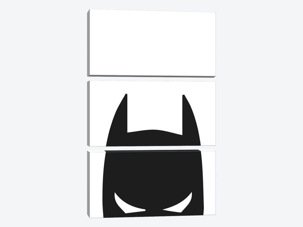 Batman Head by Pixy Paper 3-piece Canvas Artwork