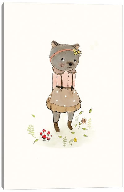 Bear Spring Canvas Art Print