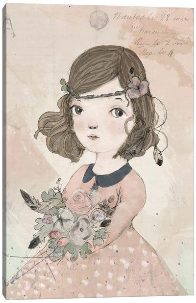 Boho Girl Canvas Art Print