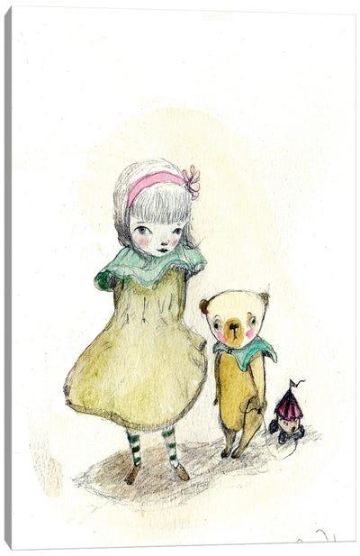Cori & Bear Canvas Art Print