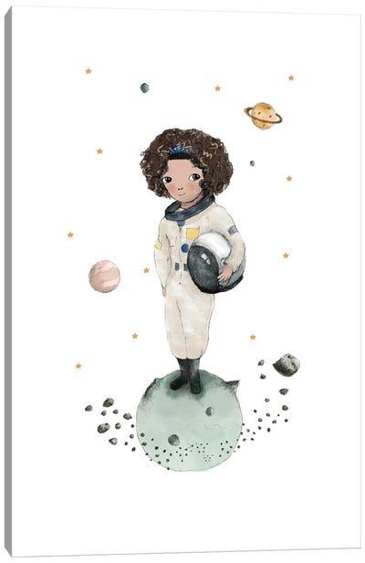 Astronaut Brown Skin Canvas Art Print