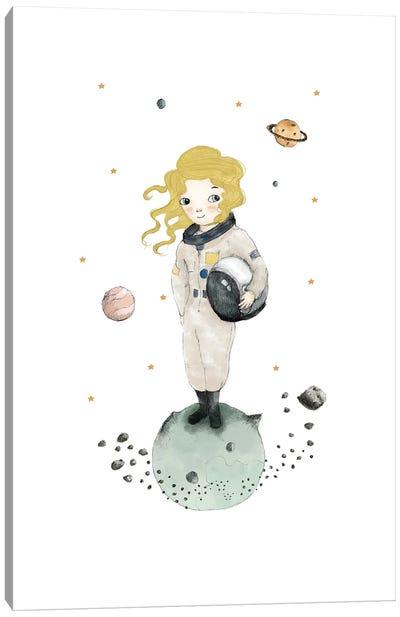 Astronaut Blonde Canvas Art Print