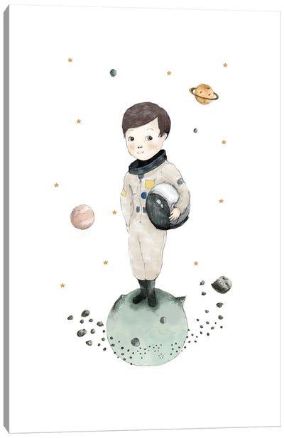 Astronaut Boy Canvas Art Print