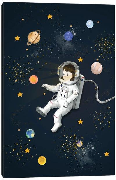Dark Girl Astronaut Canvas Art Print