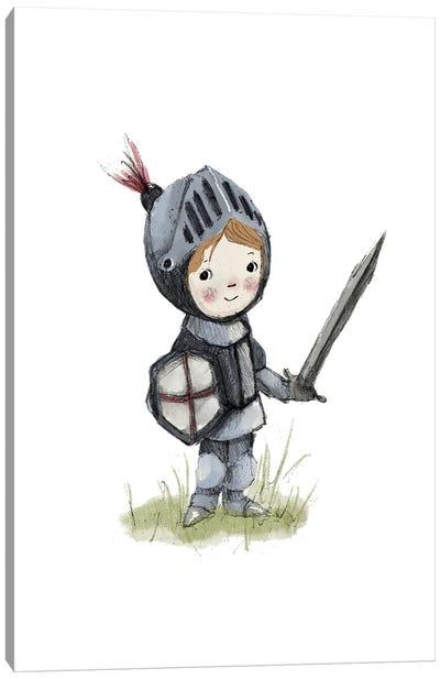 Boy Knight Canvas Art Print