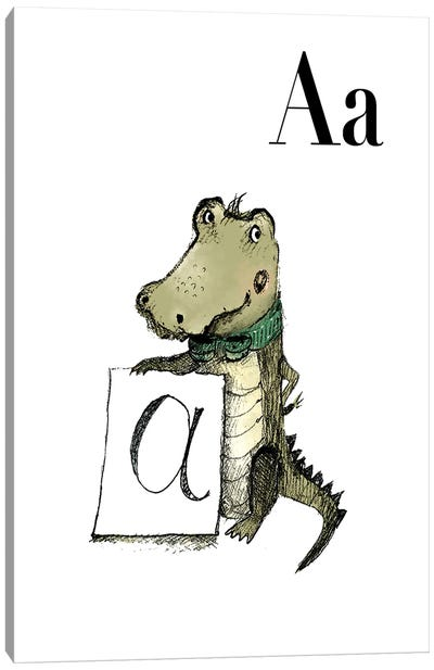 Aligator Canvas Art Print