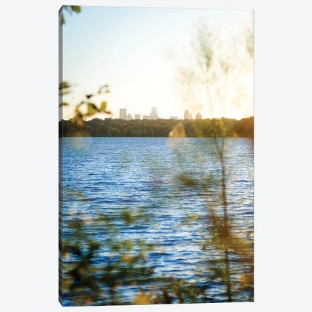 White Rock Sunset II Canvas Print #QNT16} by Sonja Quintero Canvas Wall Art