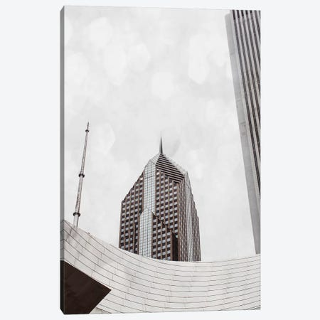 Chicago Monotone I Canvas Print #QNT19} by Sonja Quintero Canvas Print