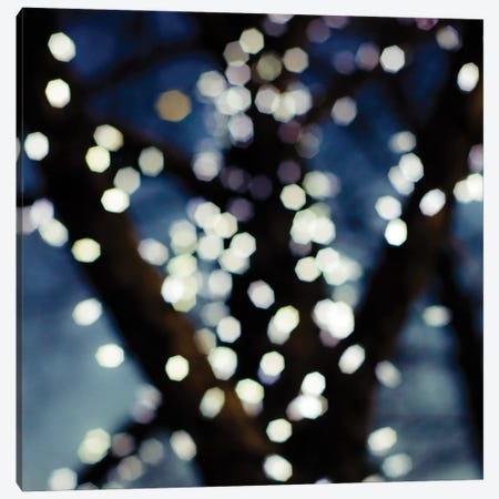 Bokeh Blue I Canvas Print #QNT1} by Sonja Quintero Canvas Wall Art
