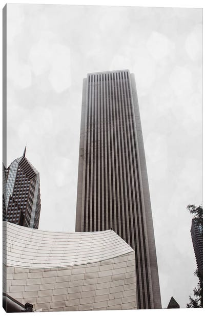 Chicago Monotone II Canvas Art Print