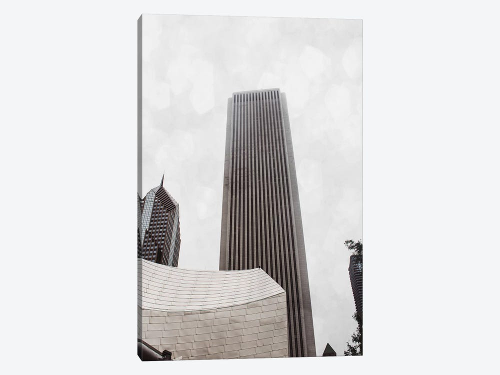 Chicago Monotone II 1-piece Canvas Wall Art