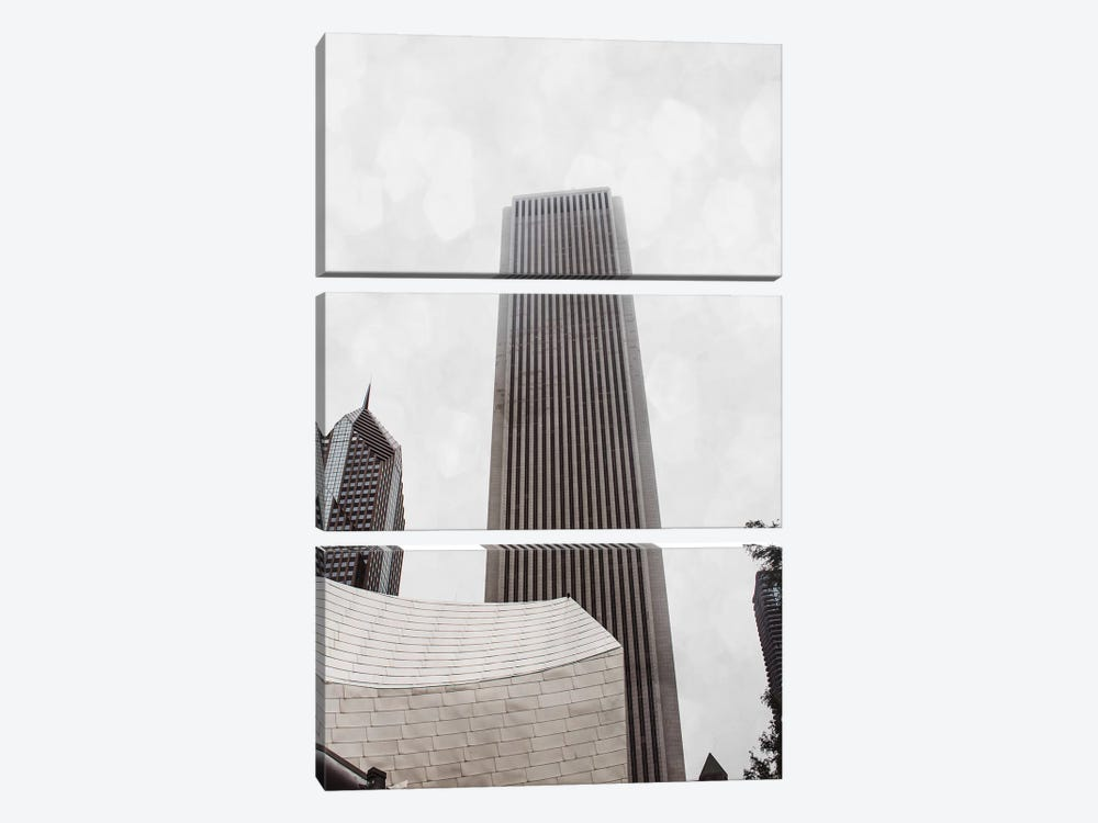 Chicago Monotone II 3-piece Canvas Artwork