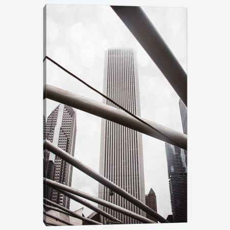 Chicago Monotone III Canvas Print #QNT21} by Sonja Quintero Canvas Wall Art