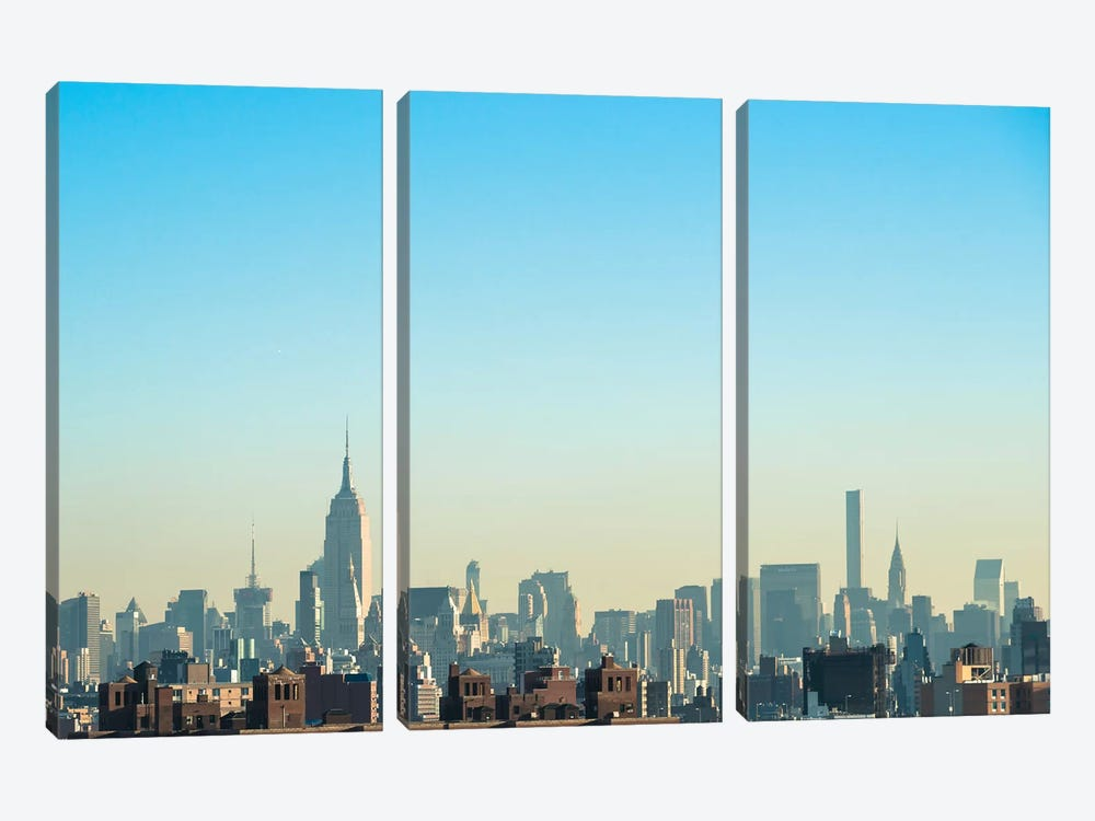 NYC Silhouettes I by Sonja Quintero 3-piece Canvas Art