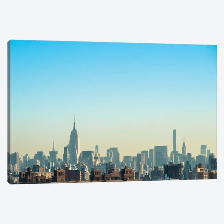NYC Silhouettes I Canvas Print #QNT22} by Sonja Quintero Canvas Wall Art