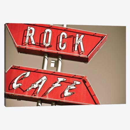 Cafe Rock I Canvas Print #QNT28} by Sonja Quintero Canvas Art