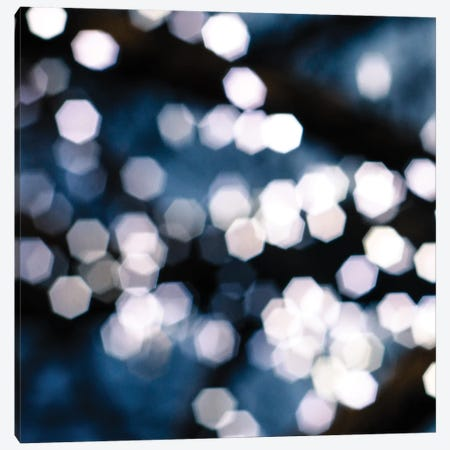 Bokeh Blue II Canvas Print #QNT2} by Sonja Quintero Canvas Artwork