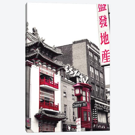 Chinatown Reds I Canvas Print #QNT31} by Sonja Quintero Canvas Print