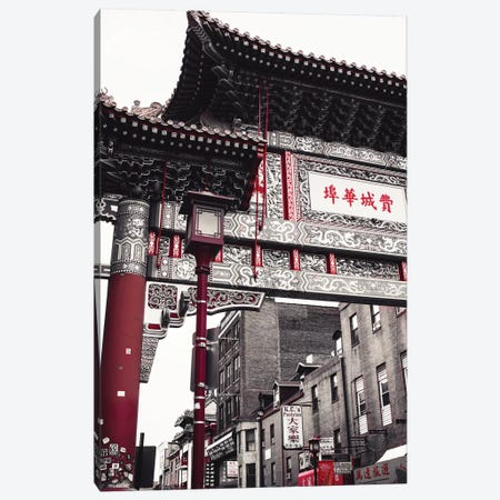 Chinatown Reds II Canvas Print #QNT32} by Sonja Quintero Art Print