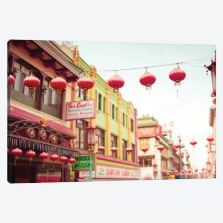 Chinatown Afternoon II Canvas Print #QNT37} by Sonja Quintero Canvas Art