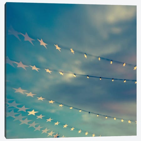 Bokeh Stars I Canvas Print #QNT3} by Sonja Quintero Canvas Art