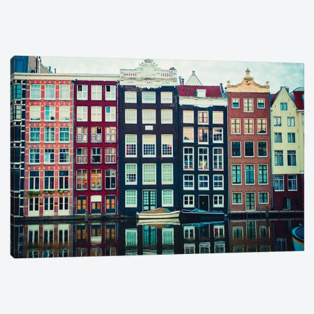 Canal Vibes I 3-Piece Canvas #QNT44} by Sonja Quintero Art Print